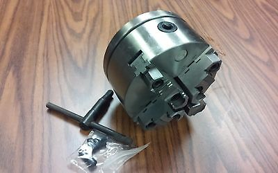 6 4-jaw Self-centering Lathe Chuck W. Topbottom Jaws W. 2-14-8 Adapter-new