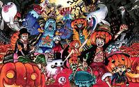 Poster A3 One Piece Luffy Pirates Halloween -  - ebay.es