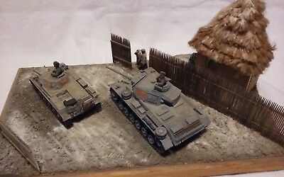 Built 1/35 German Panzer II and Panzer III diorama for sale  Cleveland