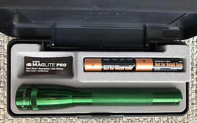 MAGLITE AA PRO LED GREEN 2 Cell Flashlight Maglight 272 Lumens