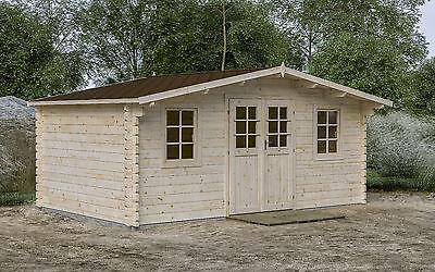 44 mm Gartenhaus 500x320 cm Gerätehaus Blockhaus HolzhausDatsche Lounge Holz