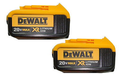 DeWalt 20V 20 Volt Max XR 4.0 Amp Lithium Ion Battery Packs New 2 Pack DCB204-2