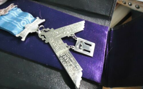 Lg Antique Sterling Silver Masonic Medal / Jewel Altoona PA / Swayze , 1932
