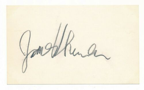 James Thurber - Author & Humorist - Pencil Signature on a 3x5 Card - Autograph