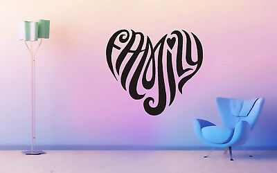 Wall Sticker Mural Decal Vinyl Decor Love Family Heart Valentine's Day Home