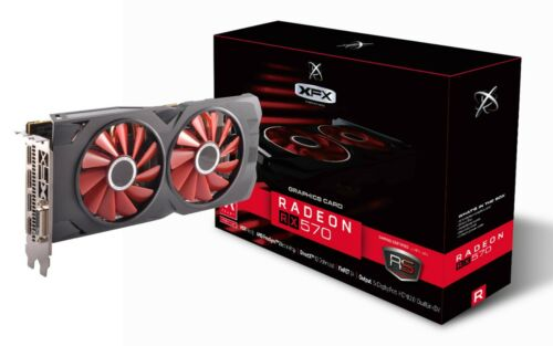 XFX Radeon RX 570 8GB DDR5 Black Edition PCI Express Graphics Card RX-570P8DBD6
