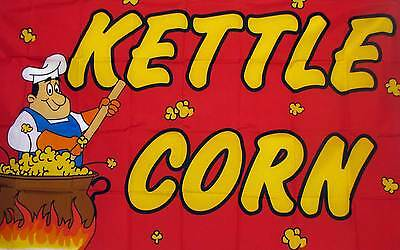 Kettle Corn Flag 3 X 5 Indoor Outdoor Multi-color Banner