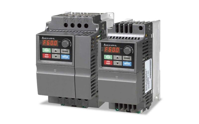 Delta Vfd-037el23a Frequency Inverter Drive 3ph 5hp 230v 3.7kw