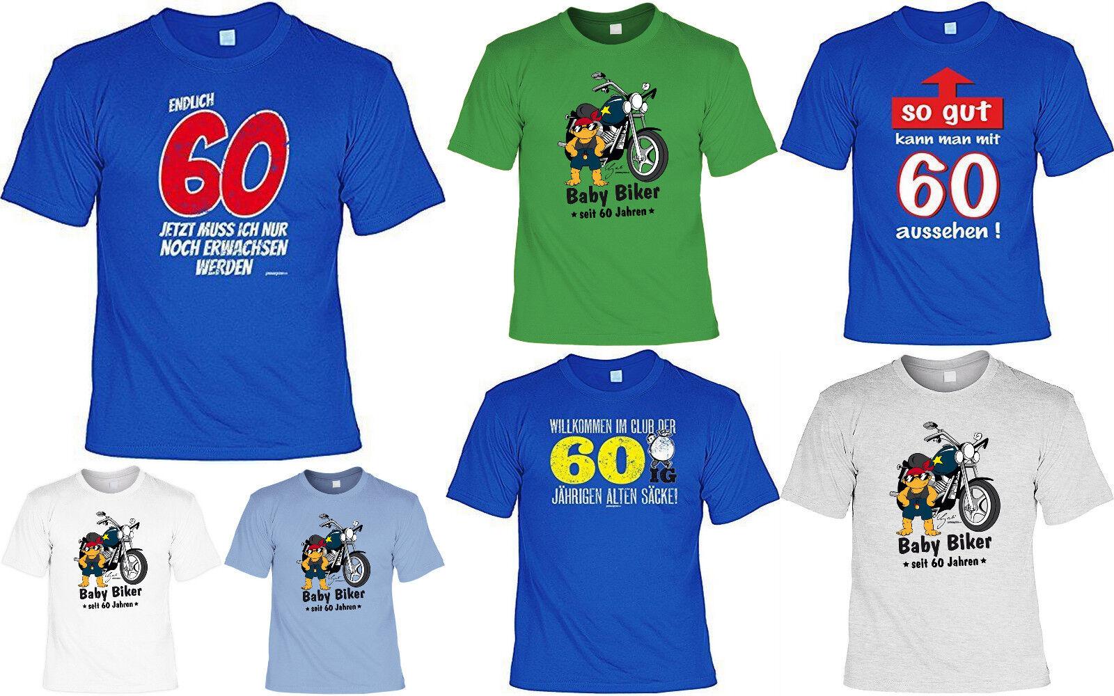 T-Shirt zum 60.Geburtstag - 60 Jahre - Coole Sprüche / Motive Geburtstag 60