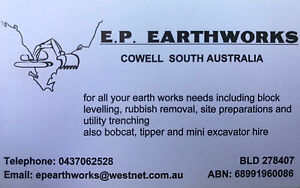 Bobcat/Mini Excavator hire Whyalla Norrie Whyalla Area Preview