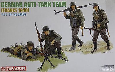 Dragon 6196: 1/35 German Anti-Tank Team France '40 (4 Figures)