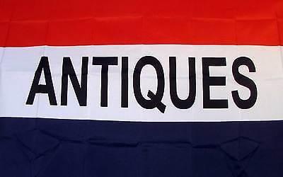 Antiques Flag 3 X 5 Deluxe Indoor Outdoor Business Banner