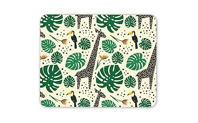 Tropical Theme Giraffe Palm Toucan Mouse Mat Pad - Jungle Gift Computer #14471 - Tropical Themed Games
