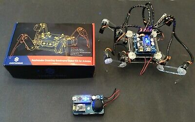 Sunfounder Wireless Rc Crawling Quadruped Robot Kit For Arduino W Batteries