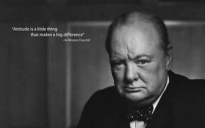 - Winston Churchill Quote - Iconic History Wall Poster / Canvas Picture Prints