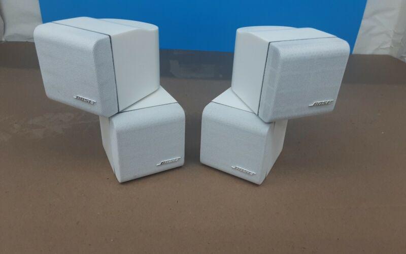 Bose Redline Double Cube Speakers Lifestyle/Acoustimass, White Pair