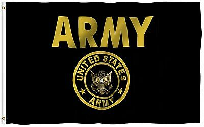 Army Gold and Black Flag United States Military Banner US Pennant New 3x5 (ACE)