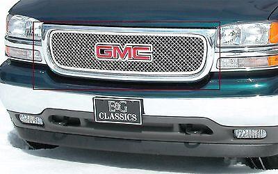 E G Classics Gmc 2001 05 Yukon 1999 2002 Sierra Polished Heavy Metal Mesh Grille