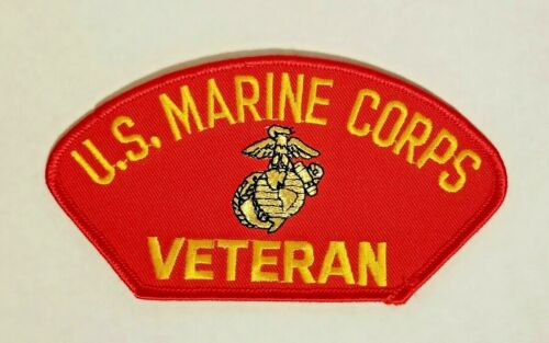 US MARINE CORPS VETERAN PATCH - MADE IN THE USA!