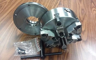8 6-jaw Self-centering Lathe Chuck W. Topbottom Jaws L0 Adapter Back Plate