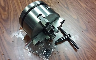 6 4-jaw Self-centering Lathe Chuck W. Topbottom Jaws W. 1-12-8 Adapter-new