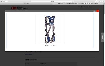 3m Dbi-sala Exofit Construction Style Positioning Harness -xxl Blue 1113043 New