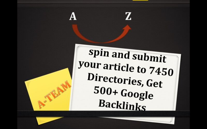 ARTICLE spin and submit your article to 7450 Directories