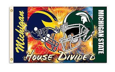 Michigan Michigan State Helmet House Divided Flag 3