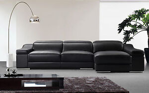 Firenze Leather Lounge Chaise Corner 3 Seats+Chaise Sydney City Inner Sydney Preview