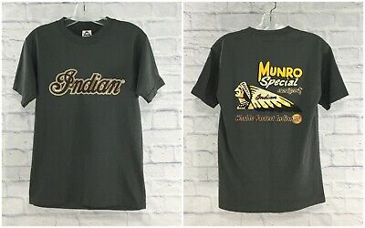1920 Scout Munro Special Indian Motorcycle Men's Small T-Shirt Gray