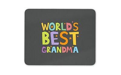 World's Best Grandma Mouse Mat Pad - Gran Nan Nana Granny Computer Gift #19165