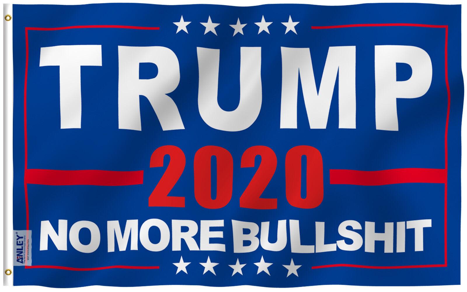 Anley Fly Breeze 3x5 Foot Donald Trump 2020 Flag NO More Bul