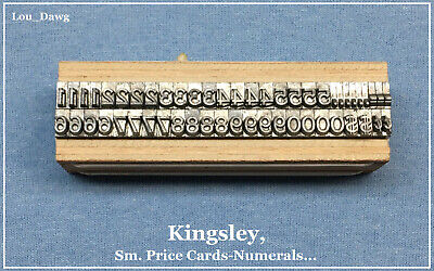 Kingsley Machine Type Sm. Price Card--numerals Hot Foil Stamping Machine