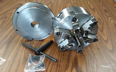 8 6-jaw Self-centering Lathe Chuck W. Topbottom Jaws W. 1-12-8 Adapter-new