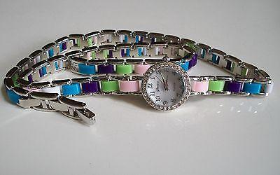 Double Wrap Around Bracelet - Crystal Women's Multi Wrap Around Double Strap Bracelet Long Band Fashion  Watch