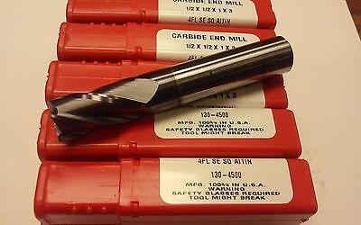 10pcs Htc 12x1x3 Solid Carbide End Mills Tialn Coated4flt Secenter-cut-usa