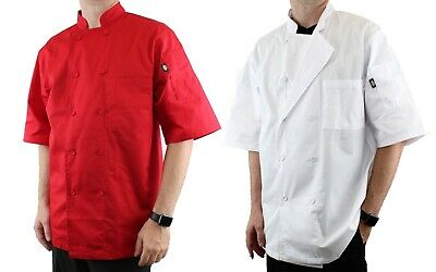 Dickies Chef Coat Cool Breeze Lightweight Short Sleeve 10 Button Dc105