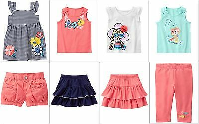 New Gymboree Girls Summer Tropical Breeze Dress Tee Shorts Skort 3T 4T 5T Nwt
