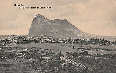 Gibraltar rock from queen of spain's chair #D31