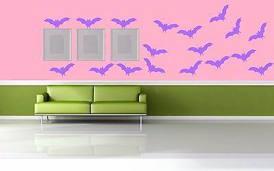 Halloween Bat Waterproof Home Wall Bathroom window Room Vinyl Decal - Halloween Rooms