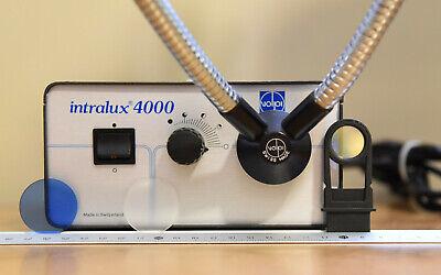Volpi Intralux 4000 Microscope Fiber Optic Light Source Wgooseneck Filters
