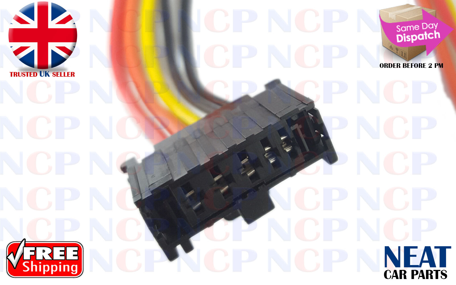 peugeot 307 heater blower motor resistor wiring loom connector rh ebay co uk peugeot wiring harness connectors Electrical Wire Connectors Types