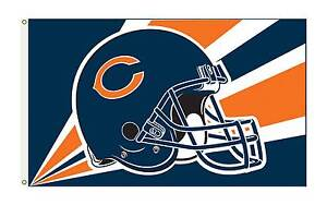 CHICAGO-BEARS-3-039-x-5-039-OFFICIAL-NFL-Premium-Flag-W-Grommets-Banner-1-SIDED