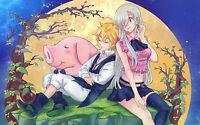 Poster A3 Nanatsu No Taizai Meliodas Eliabeth Seven Deadly Sins 02 -  - ebay.es