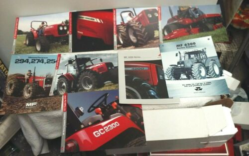 10 MIXED MASSEY FERGUSON TRACTOR BROCHURES BROCHURE LOT