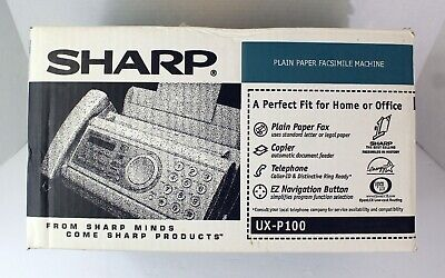 Nos Sharp Plain Paper Facsimile Machine Ux-p100 Brand New Open Box