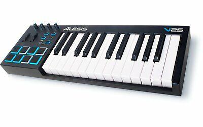 Alesis 25-Key USB MIDI Keyboard Controller with Backlit Pads - V25