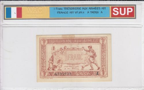 Ticket From 1 Franc Cash Of Armies 1917 Sup