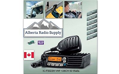Icom Ic-f5023h Vhf Mobile Radio 50 Watts 136-174mhz 128ch Free Programming