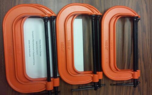 """8"""" C-Clamps 6pc set,heavy duty,made for famous brands $38.00/set-new"""